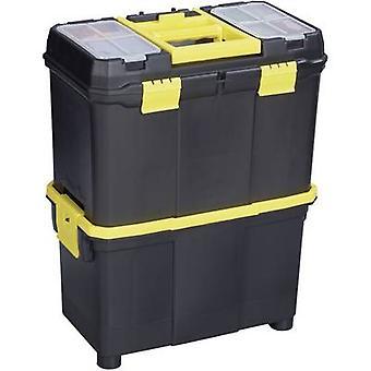 Alutec 56350 תיבת כלי פלסטיק שחור, צהוב