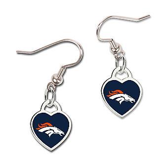Wincraft dames 3D hart oorbellen - Denver Broncos van de NFL