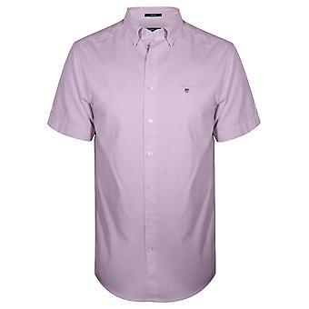 GANT Pink Oxford Regular Short-Sleeve Shirt