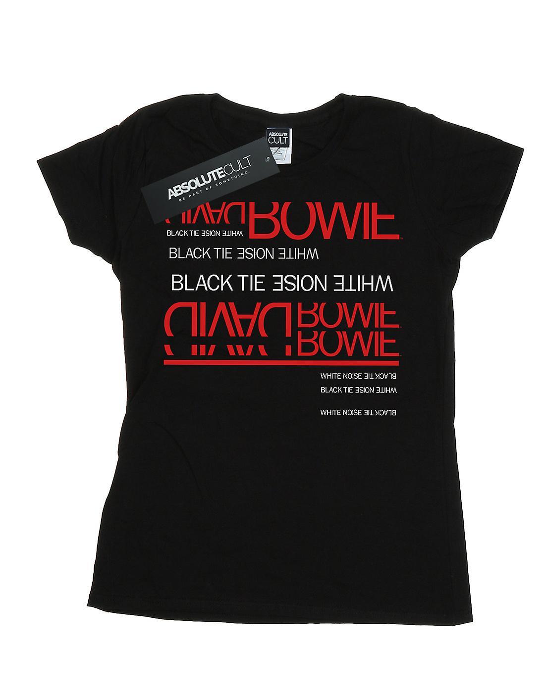David Bowie Women's Black Tie White Noise T-Shirt