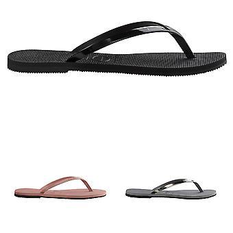 Womens Havaianas You Metallic Beach Lightweight Summer Toe Post Flip Flop