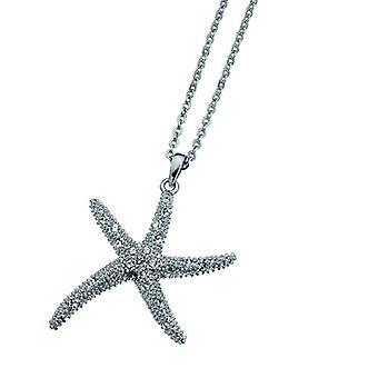 Oliver Weber Pendant Starfish Large Rhodium Crystal