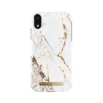 iDeal af Sverige iPhone XR marmor Shell-Carrara guld