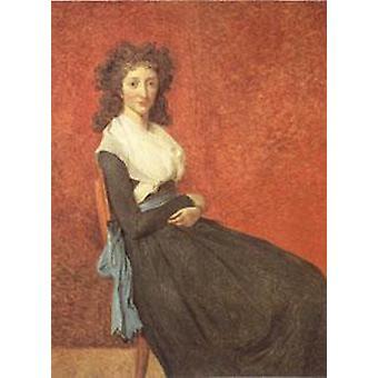 Madame Charles-Louis Trudaine, Davi Jacques-Louis, 50x40cm