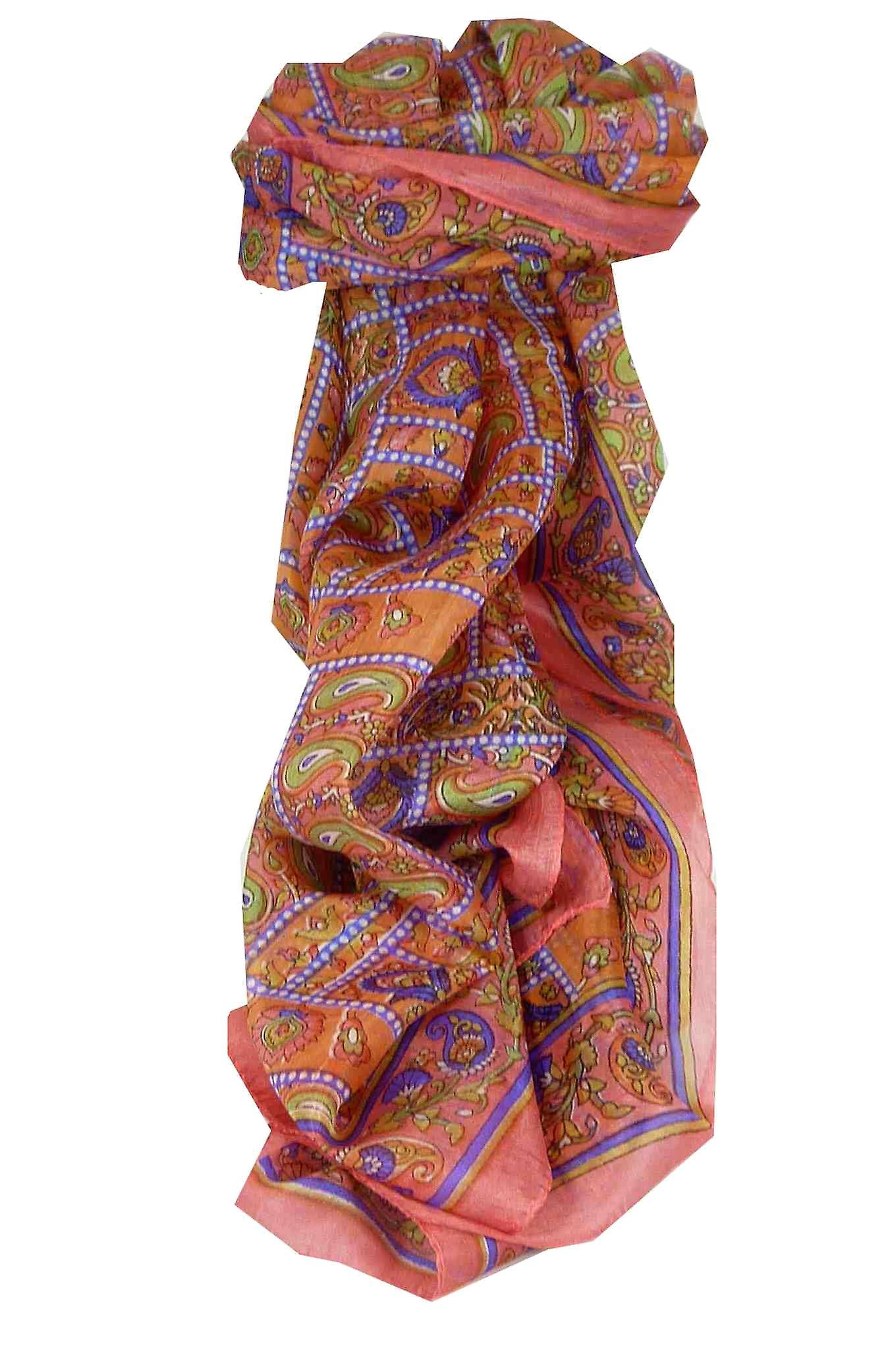Mulberry Silk Traditional Long Scarf Chenab Blush by Pashmina & Silk