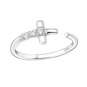 Cross - 925 Sterling Silver Jewelled Rings - W15063x