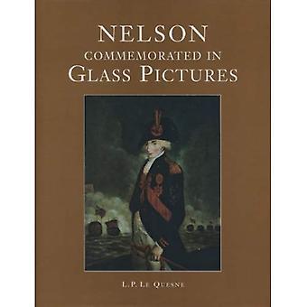 Nelson herdacht in glas-foto 's