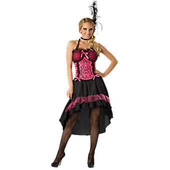 Womens Saloon Gal Western Wild West Moulin Rouge Fancy Dress Costume