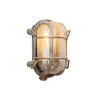QAZQA Wall and ceiling light brown 18/14 cm IP44 - Nautica 2 oval