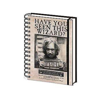 Harry Potter Notebook Wanted Sirius Black new Official A5 Wiro