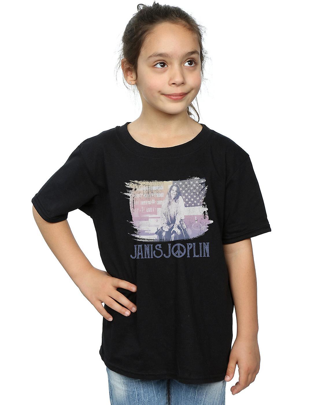 Janis Joplin Girls Stove Flag T-Shirt