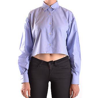 Aspesi Ezbc067039 Women's Blue Cotton Shirt