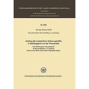 Analizar der instationren Strmungskrfte en Abhngigkeit von der Wassertiefe de Graff y Werner