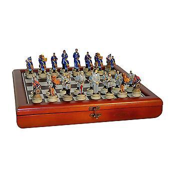 Набор шахмат генералов гражданской войны в груди