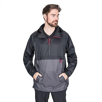 Zawinili męskie porywisty Packaway wodoodporny Half Zip Jacket