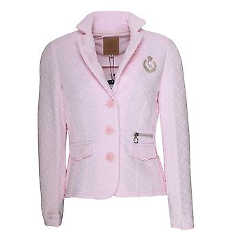 L'argentina Pink Quilted Fitted Jacket