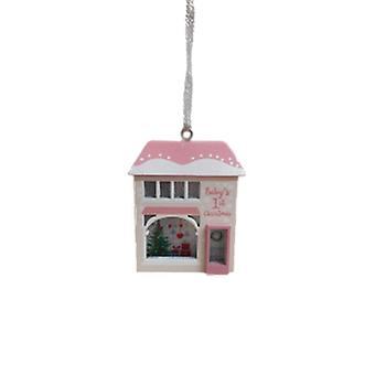 Baby Girl's First Christmas Light Up Hanging House