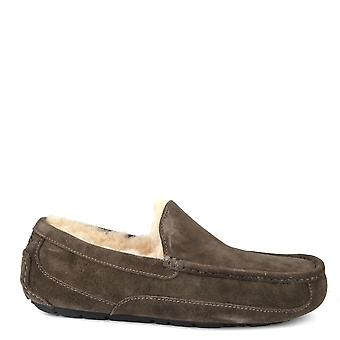 UGG Mens' Ascot Charcoal Suede Slipper