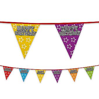 Happy Birthday Party Bunting 8m Long Celebration Decoration