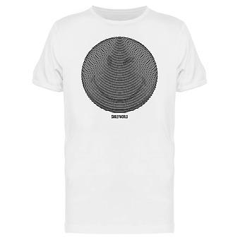 SmileyWorld Smile Face Optical Illusion Circle Lines Men's T-shirt
