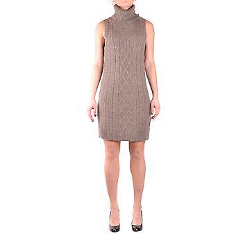 Liu Jo Ezbc086174 Women's Beige Wool Dress