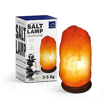 Knight Authentic Himalayan Salt Lamps 3-5kg Natural and Handcrafted with Wooden Base
