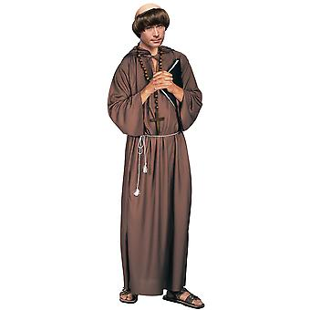 Biblico Monk Robe medievale Robin Hood frate Tuck sacerdote religioso Mens Costume