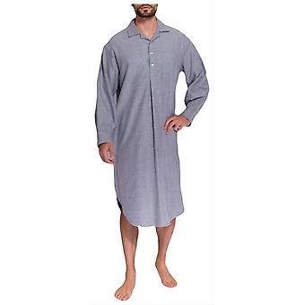 Boxeurs britanniques Ash Herringbone deux pli flanelle chemise de nuit-gris