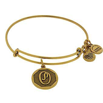 Alex y Ani O inicial encanto brazalete pulsera - Rafaelian oro acabado - A13EB14OG