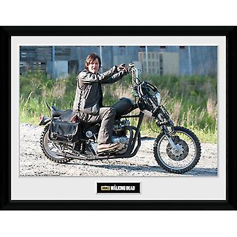 La moto marche de Daryl morts encadré Collector impression 40x30cm