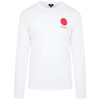 Edwin Vit Japansk Långärmad sol T-shirt
