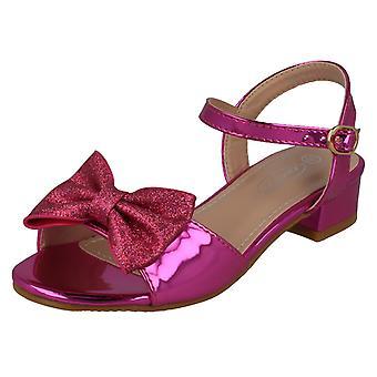 Ragazze Spot On Metallic Sandals H1108