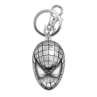 Metal Key Chain - Marvel - Spiderman Head Pewter Keyring Gifts Toys New 68034