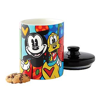 Disney Britto Mickey y Pluto Cookie Jar
