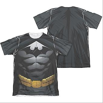 Batman Men's Uniform Costume Sublimation Two-Sided Tee Shirt