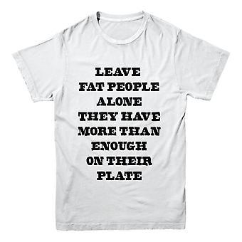 Official Foul-Play T-Shirt - Leave Fat People Alone
