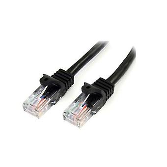 StarTech Black Snagless Cat5e Cable patch-Kaapeli