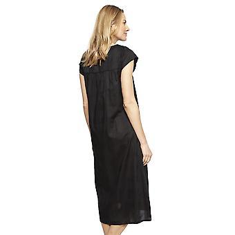 Cyberjammies 1342 Women's Nora Rose Violet Black Check Cotton Long Nightdress