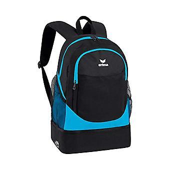 Erima Rucksack mit Bodenfach Casual Backpack - 45 cm - 31 -7 liters - Turquoise (Curacao/schwarz)