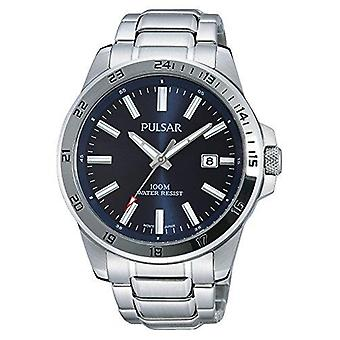 Pulsar Sport Silver Stainless Steel Blue Dial Men's Watch PS9331X1 43mm