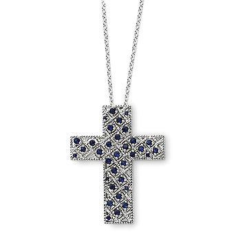 925 Sterling Zilver gepolijst spring ring Rhodium verguld september CZ Cubic Zirconia Gesimuleerde Diamond Religieuze Geloof Cr