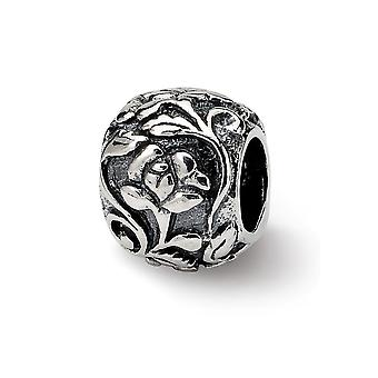 925 Sterling Silver Reflections SimStars Floral Bead Charm Pendant Necklace Jewelry Gifts for Women