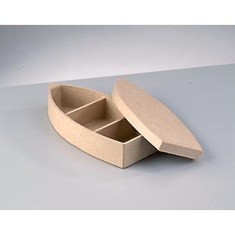 Caja Mache de papel en forma de barco de 21 cm para decorar ? Cajas Papier Mache