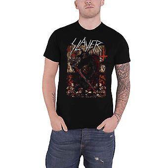 Slayer T Shirt Hellthrone Iceland Event 2018 Band Logo new Official Mens Black