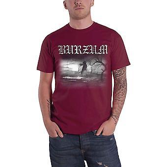 Burzum T Shirt Aske 2013 Band Logo new Official Mens Maroon