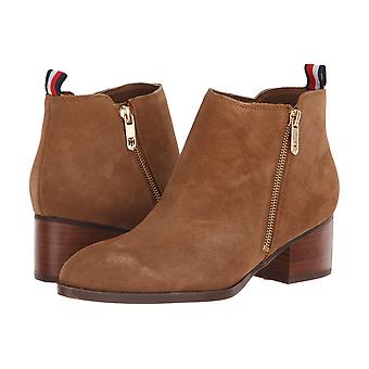 Tommy Hilfiger Womens ruthee Leather Almond Toe Ankle Fashion Boots
