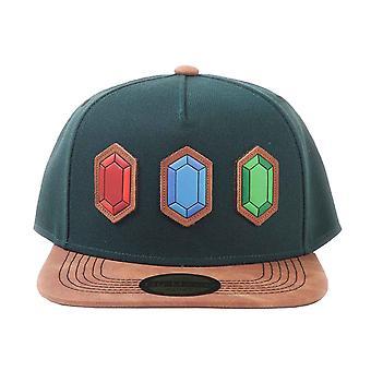 Zelda Baseball Cap Rupee Logo new Green Official Nintendo Snapback
