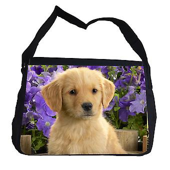 Lindo bolso de cachorro con bolso de hombro con correa de hombro