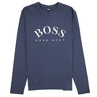 Hugo Boss buet broderet stort logo Togn LS T-shirt