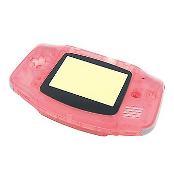 Replacement housing shell kit for nintendo game boy advance - transparent pink